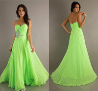 Fast Shipping Sweetheart Modest Chiffon Formal Pageant Dresses Beaded Junior Cheap Long Bridesmaid Dresses