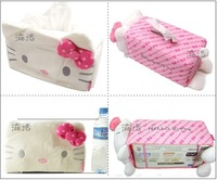 Hello Kitty Home Storage Organization Tissue Box Pink Storage Bags in House Decoration or Car Styling Interior Accessories