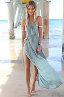 Featuring A Drawstring Fastening Under The Bust Irresistible Khaki Maxi Dress summer cute dress