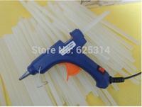 Free shipping Heating Hot Melt Glue Gun 20W Crafts Album Repair with Glue Sticks(with switch)+20pcs 7*270mm hot melt glue stick