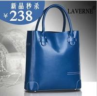 2014 women's handbag  cowhide classic one shoulder handbag large bag