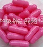 0# 10,000pcs bright pink hollow capsule,The health the empty capsule/medicinal gelatin capsule/ (bone glue)