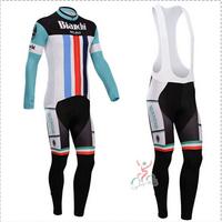 Hot sale/New Arrival/2014 BIAN Long Sleeve Bike/ Cycling Jerseys+bib pants(or pants)/Cycling Suit/Cycling Wear/-WL14BI02