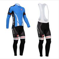 Hot sale/New Arrival/2014 CASTELLI Long Sleeve Bike/ Cycling Jerseys+bib pants(or pants)/Cycling Suit/Cycling Wear/-WL14CA004