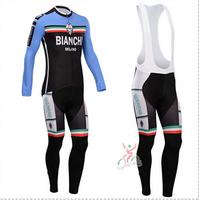 Hot sale/New Arrival/2014 BIAN1 Long Sleeve Bike/ Cycling Jerseys+bib pants(or pants)/Cycling Suit/Cycling Wear/-WL14BI02