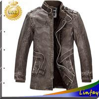 TOP Quality Men Leather Jacket Brand Jaquetas de couro Men's Jacket Casaco Fur Coat Men Clothes Jackets Outdoor Men Overcoat
