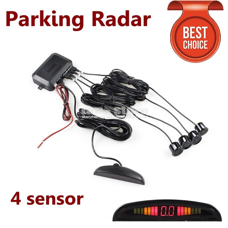 Car Parking Radar Sensors Backup Radar System with LED Backlight Display + 4 Sensors(China (Mainland))