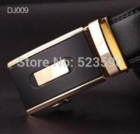 8  Style/ Fashion Black Color Brand Men Cowhide Genuine Leather Belt Automatic Buckle Metal Plate   Designer Cowhide Belts Men