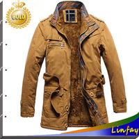 TOP Quality Men Jacket Fur Brand Trench Coat Men Clothing Autumn and Winter Jackets Outdoor Jacket Casaco Masculino Men Overcoat
