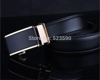2014 Brand Belt Men/Man Classic Eco-Friendly Automatic Buckle Strap Genuine Leather Belt Fashion   Male Belt  Free Shipping