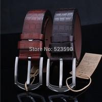 NEWEST!Designer Fashion Cowskin Genuine And Fiber Famous Brand Leather Men Belts For Men,Strap Pin Buckle,Hip Jeans Belts