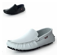 Summer genuine leather shoes lazy gommini male shoes the trend of fashion casual shoes sailing boat white leather