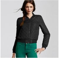 Wholesale 2014 Brand New Autumn And Winter Jacket Coat Fashion Slim Diamond Lattice Pressed Cotton Padded Jacket WD50-40