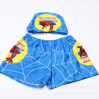 children swimming trunks + swim cap suits new 2014  boy boxer swimming trunks FREE SHIPPING