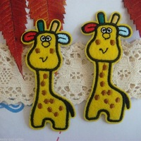Wholesale lot  Cartoon Giraffe  iron on patch  DIY sewing craft  3x7.2cm