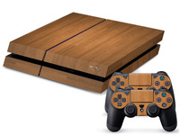 Protective Vinly Decal Skin/Stickers Wrap For PS4 Play Station 4Console+ 2 Controllers- Wooden Style Light Yellow