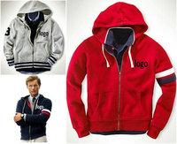 Hot Sale! Famous Brand Mens Hoodies Sweatshirts 2014 Fashion Male sweatshirts Hooded Sweater zippers Jacket Coat Cotton 1R08