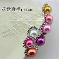 2014 new fashion styling tools Silver Crystal Hair Pins Rhinestone Clips Pearl Hair Jewelry Accessories Bridal wedding jewelry