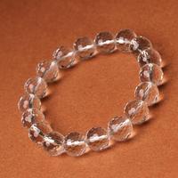 Natural white crystal 64 bracelet male Women