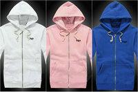 11 Color 2014 Spring Autumn Women's Cotton Cardigans Jacket New Fashion Famale Hoodies logo Sweatshirt with zipper 1R15