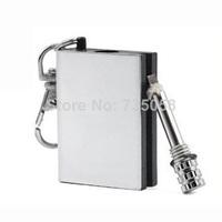 Survival Liquid New Permanent Match Box Striker Lighters Key Chain L0327 P