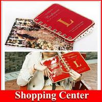 Dropshipping Wholesale 2014 new Personalized Books Bag Calendar Bag Women's Handbag Chain Small Bags Shoulder Clutch bags