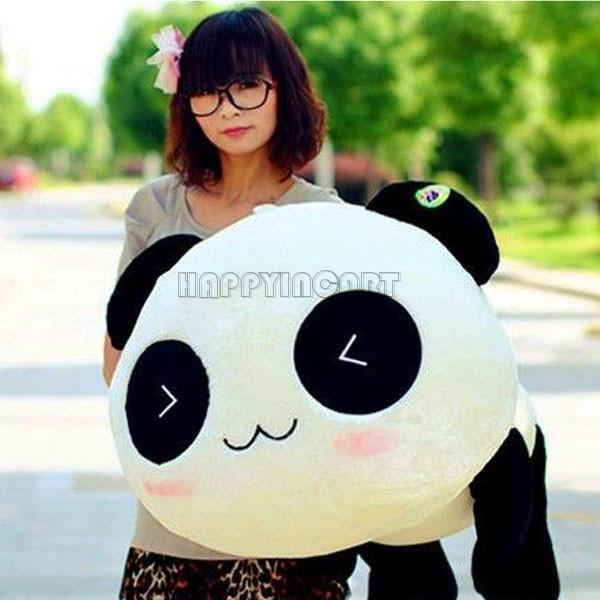 High Quality Kid's Girl's Boy's Cute Panda Pillow Soft Plush Toy Stuffed Animal Panda 45cm Gift PJ16901_45(China (Mainland))