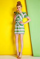 Women Dress-1729/Fashion Women Party Dresses/2014 Summer New Desigual Cute Dress/S,M,L
