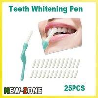 3 Packs Teeth Tooth Whitening Pen Dental Peeling Stick + 25 Pcs Eraser Free Shipping