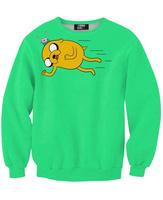 Best Quality 2014 new fashion men sweatshirts 3D cartoon green adventure time women girl pollover HOODIES IN STOCK