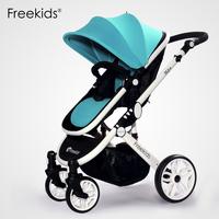 Freekids bidirectional four wheel baby stroller pushchair trolley