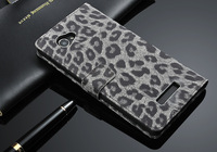 Leopard Grain Business style Flip Leather Case For Lenovo A880 Credit Card Holster