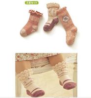 free shipping 2014 spring autumn new 6pair/lot cotton baby girls socks cartoon socks kids ankle socks children's anti-slip socks