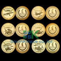 Free Shipping Replica 1 Rouble Russia Coins Kaliningrad 2002-2004 Set of 10 Mark Coins (5sets/lot)