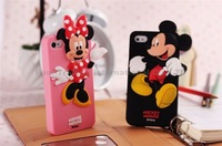 3D Cute Cartoon Winnie Bear mickey chip donald piglet Soft Silicone Rubber Phone Case For iphone 5 5s 4 4s