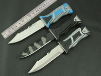 2014 new! Camping outdoor hunting arrow diving survival knife multi-tool tactical straight knife fixed HK Free Shipping