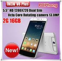 iNEW V8 MTK6591T 5.5''Cell Phones Hexa Core Rotation Camera 13.0MP Android 4.4 NFC OTG 1G/16G