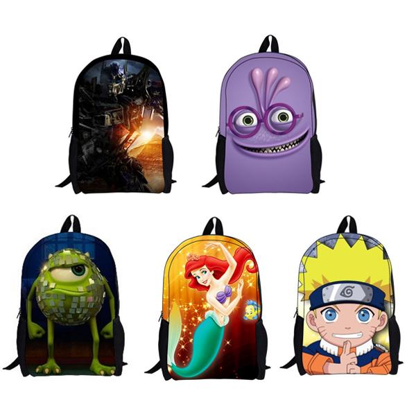 2014 klassischen stil kinder mädchen jungs rucksack niedlichen cartoon-rucksack taschen kinder umhängetasche kind boy schultaschen