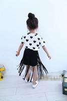 Wholesale(5pcs/lot)-  Summer  fringed skirt for child girl