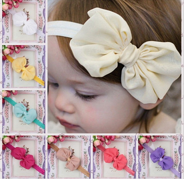 Free Shipping 20pcs/lot,europe and America Hot Selling High Quality Boutique Bows Hair Band Rose Children Flower Bow Headbands(China (Mainland))