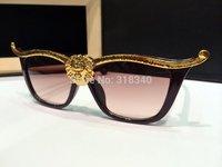 New 2014 Metal Super Cute Cateyes Women Sunglasses Designer High Quality Vintage Retro Glasses Fashion Girls Gafas De Sol