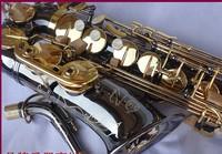 FREE SHIPPING DHLSelmer/ Salma 54 E Alto Sax Black nickel gold drop E Alto Saxophone professional level