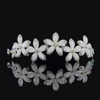 free shipping Korean hair accessories crystal rhinestone crystal pearl wedding bridal Crown  j105