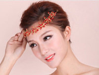 free shipping Hot selling white/Red hair accessories crystal rhinestone crystal wedding bridal Crown j114