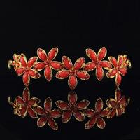 free shipping Hot selling Red hair accessories crystal rhinestone crystal pearl wedding bridal Crown  j106