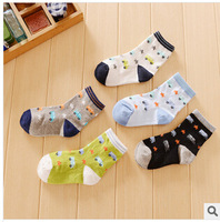 free shipping 2014 spring autumn new 20pair/lot cotton baby socks cartoon socks bus kids short socks children's anti-slip socks