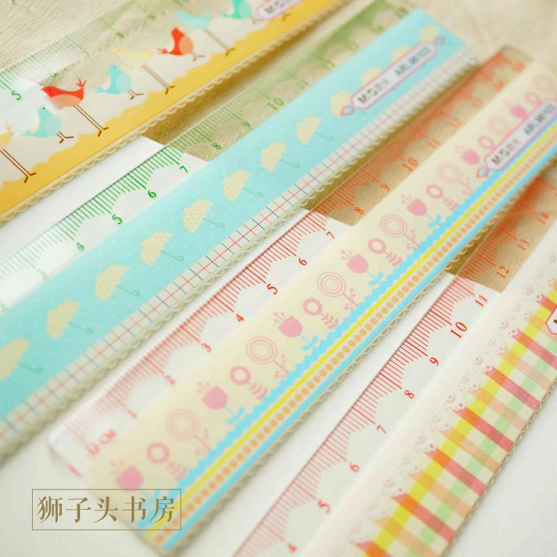 chenguang student stationery 15cm 20cm student plastic ruler(China (Mainland))