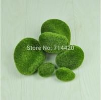 12pcs/lot  Artificial mossy stone simulation Stones artificial flowers,2pcs/size 3size per bag Floral accessories