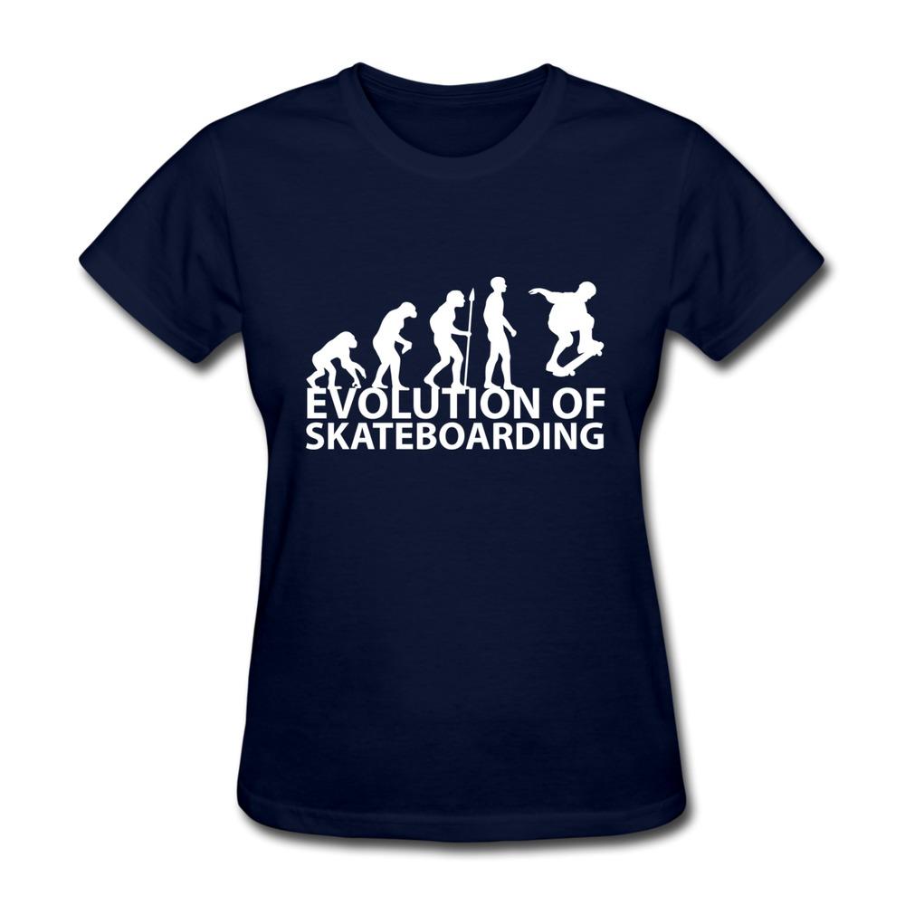 Personalize Short Sleeve Women T Shirt skateboard evolution Love Logo Girl T Shirts 2014 Original(China (Mainland))