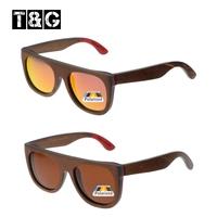 Flat Top Brand Designer Vintage Retro Brown Skateboard Sunglasses Female Male Polarized Gafas De Sol Coating Film Juliet Vogue